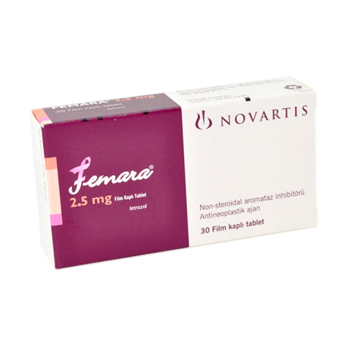 Buy Femara Tablets 2.5 mg online used to treat Breast Cancer Medication - Medical Conditions