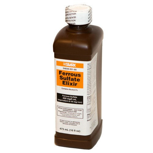Buy Ferrous Sulfate Iron Supplement Elixir Liquid 473 mL by Major Pharmaceuticals online | Mountainside Medical Equipment
