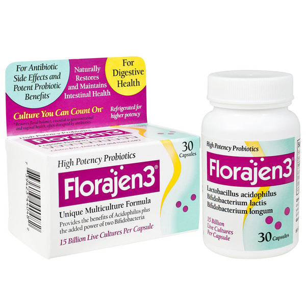 Florajen 3 Probiotic MultiCulture Formula with 3 Different Live Strains