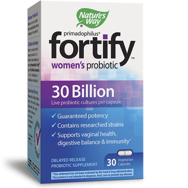 Fortify Womens Probiotic with 30 Billion Cultures for Digestive Health