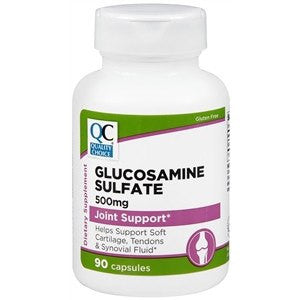 Glucosamine Sulfate Tablets 500mg for Joint Support, 90 Capsules