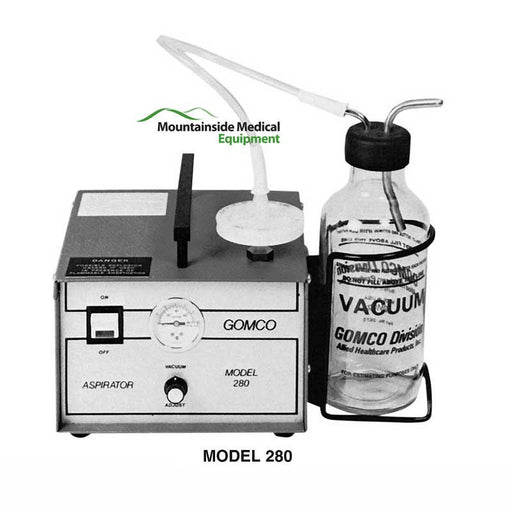 Gomco 280 Suction Machine Aspirator with 600 ml Glass Bottle - Suction Machines - Mountainside Medical Equipment