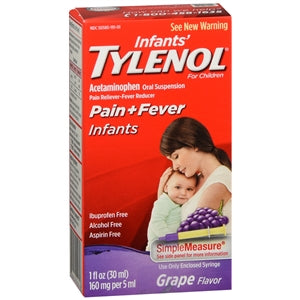 Buy Tylenol Concentrated Infant Drops Acetaminophen Grape Flavor online used to treat Pain Relievers - Medical Conditions