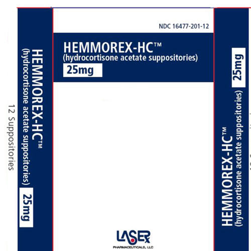 Buy Hemmorex HC Rectal Suppositories 25mg, 12-Pack online used to treat Hemorrhoidal Relief - Medical Conditions