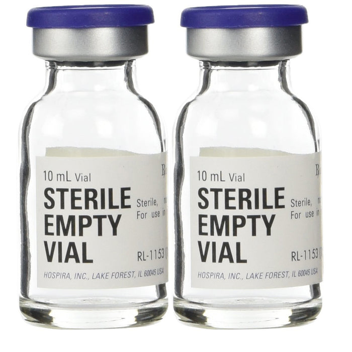 Buy (2-Pack) Hospira Empty Sterile Vial 10 mL online used to treat Empty Sterile Vials - Medical Conditions