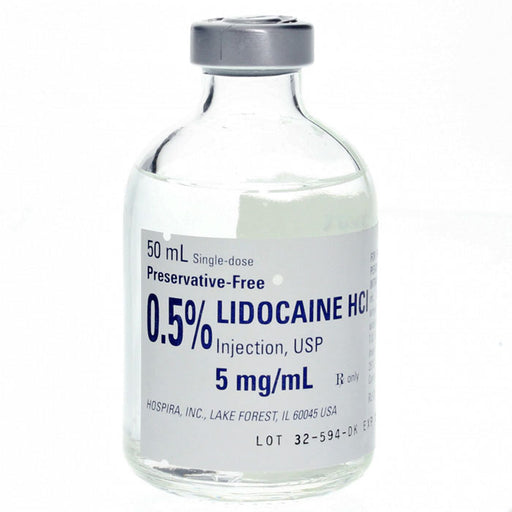 Hospira Lidocaine Hydrochloride 0.5% for Injection 50mL Vial