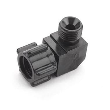 Humidifier Adapter, Black Lexan, Elbow