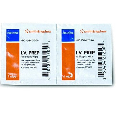 Buy IV Prep Antiseptic Wipes 50/box online used to treat IV & Irrigation - Medical Conditions
