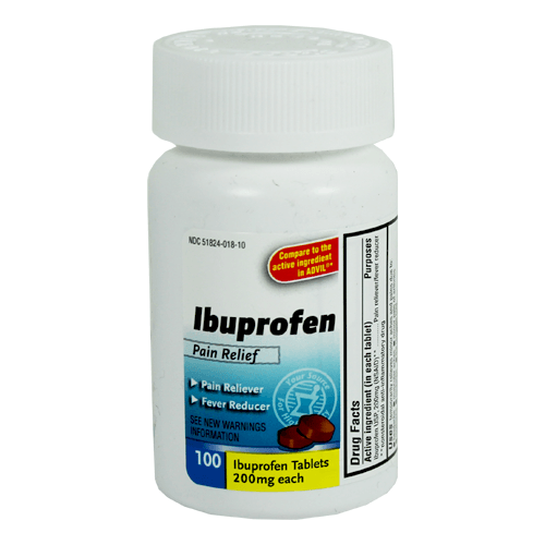 100 Ibuprofen Tablets 200 mg Pain Reliever/Fever Reducer