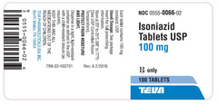 Isoniazid Tablets 100 mg by Teva