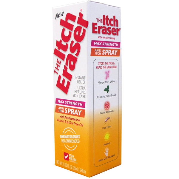 Itch Eraser Max Strength Anti-Itch Spray with Vitamin E & Tea Tree Oil