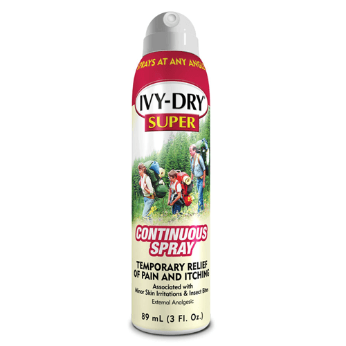 Buy Ivy-Dry Poison Ivy Relief Continuous Spray, Super Protection online used to treat Itching Relief Spray - Medical Conditions