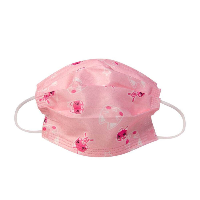 Kids Face Mask for Children, Pink with Kitty Cats - Kids Protective Face Masks - Mountainside Medical Equipment