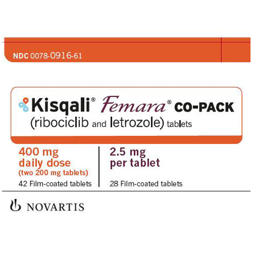 Buy Kisqali Femara Co-Pack Tablets Ribociclib 200 mg and Letrozole 2.5mg (42/28) online used to treat Breast Cancer Medication - Medical Conditions