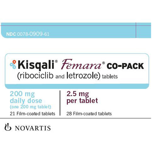 Buy Kisqali Femara Co-Pack Tablets Ribociclib 200 mg and Letrozole 2.5mg (21/28) online used to treat Breast Cancer Medication - Medical Conditions