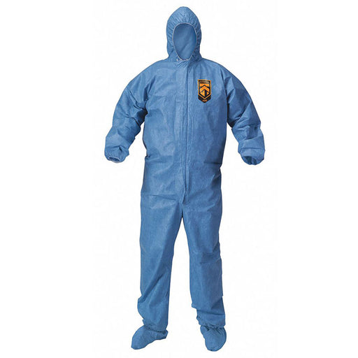 KleenGuard A60 Full Body Ultra Coveralls with Zippered Front, Elastic Back, Wrist, Ankles and Hood - Protective Coveralls, - Mountainside Medical Equipment