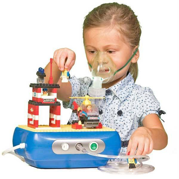 Pediatric LEGO Nebulizer Machine Compresor with Building Blocks