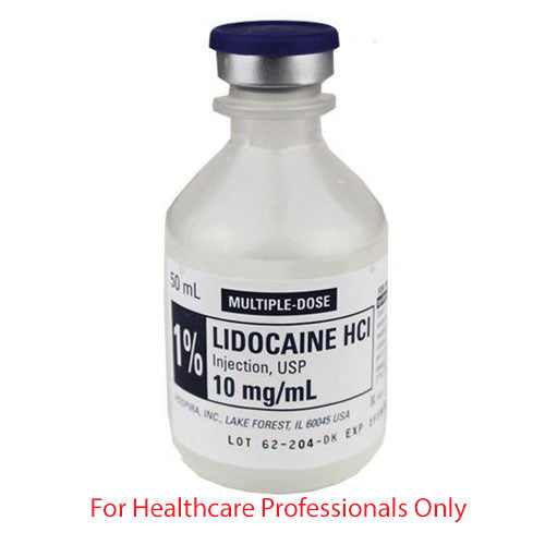 Buy Hospira Lidocaine Hydrochloride 1% for Injection 50mL Vial online used to treat Intravenous Solution - Medical Conditions