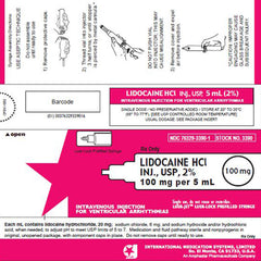 Buy Lidocaine HCI for Injection 2% Luer-Jet Prefilled Syringe 5 mL Luer-Lock online used to treat Local Anesthetic - Medical Conditions