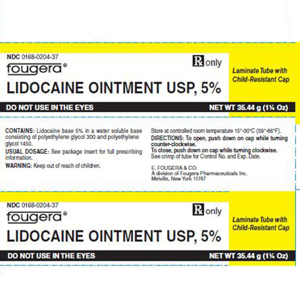 Buy Fougera Lidocaine Ointment 5%, 35 gram Tube online used to treat Local Anesthetic - Medical Conditions