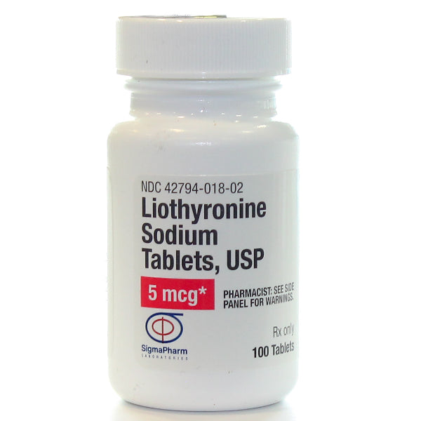 Buy Liothyronine Sodium 5 mcg, 100 Tablets Thyroid Replacement Therapy online used to treat Thyroid Hormone Replacement Therapy - Medical Conditions