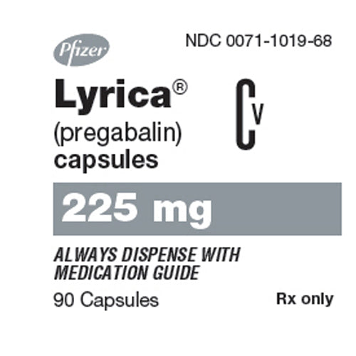 Buy Lyrica Capsules 225 mg Nerve Pain Medication online used to treat Nerve Pain Medication - Medical Conditions