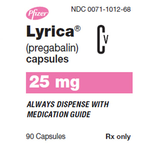 Buy Lyrica Capsules 25 mg Nerve Pain Medication online used to treat Nerve Pain Medication - Medical Conditions