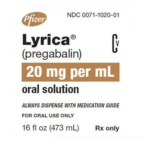 Buy Lyrica Oral Solution Liquid 20 mg online used to treat Nerve Pain Medication - Medical Conditions