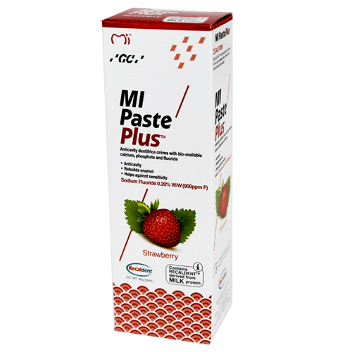 Buy MI Paste Plus Strawberry Flavor with Recaldent 40 Gram online used to treat Remineralizing Toothpaste - Medical Conditions