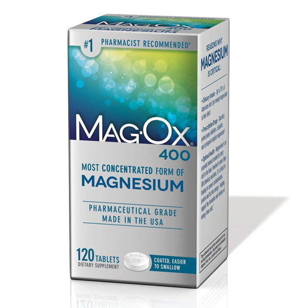 Mag-Ox 400 Magnesium Supplement 400mg, Large Pack 120 Tablets