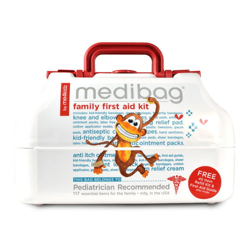 MediBag Family First Aid Kit with 117 Items for First Aid Supplies by Me4Kidz | Medical Supplies