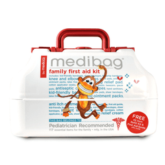 Buy MediBag Family First Aid Kit with 117 Items online used to treat First Aid Supplies - Medical Conditions