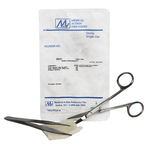 Buy Deluxe Suture Removal Kit with Adson Foceps, Iris Scissiors by Medical Action wholesale bulk | Suture Removal Kits