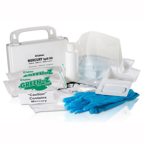 Mercury Spill Clean Up Kit with Hard Case for Spill Kits by Safetec | Medical Supplies