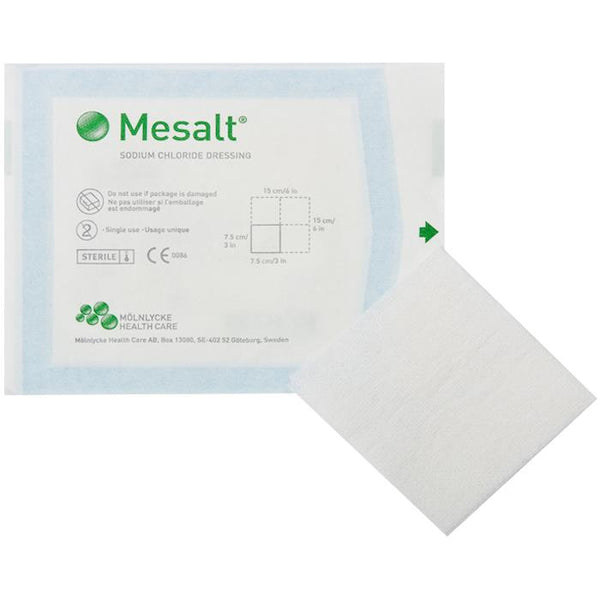 Mesalt Impregnated Absorbent Dressings 2x2 (50 Dressings)