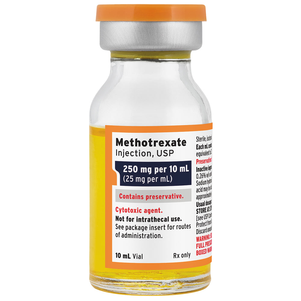Buy Methotrexate for Injection 250 mg/mL Vial 10ml online used to treat Cancer Treatment Drug - Medical Conditions