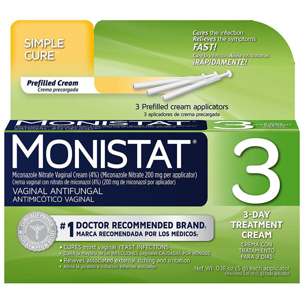 Buy Monistat 3 Day Vaginal Antifungal Relief Suppositories online used to treat Vaginal Yeast Infection Medication - Medical Conditions