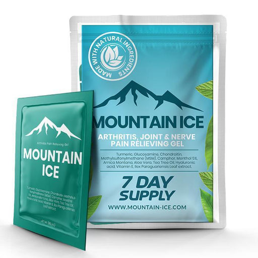 Mountain Ice Arthritis, Joint & Nerve Pain Relieving Gel -7-Day Sample Pack - Arthritis, Joint and Muscle Pain Treatment - Mountainside Medical Equipment