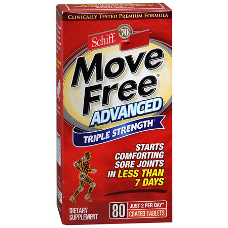 Move Free Advanced Formula Joint Care Strengthener, 80 Count
