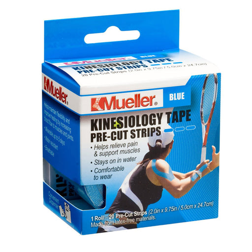 Buy Mueller Kinesiology Tape, Pre-Cut Strips, Roll, Blue online used to treat Pain Management - Medical Conditions