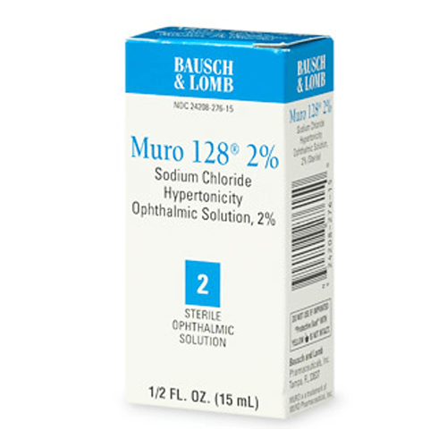 Muro 128 Sodium Chloride Ophthalmic Eye Solution 2% - Corneal Edema Relief - Mountainside Medical Equipment