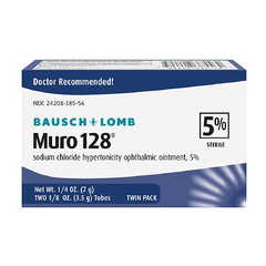 Buy Muro 128 Sodium Chloride Ophthalmic Eye Ointment 5% online used to treat Corneal Edema Relief - Medical Conditions