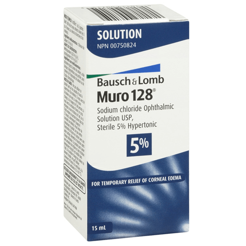 Muro 128 Sodium Chloride Hypertonicity Ophthalmic Solution 5% for Eye Health by Bausch & Lomb | Medical Supplies