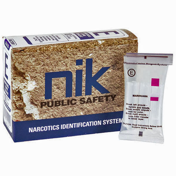 NIK Test Kit E Narcotics Identification Testing System, 10 Pack