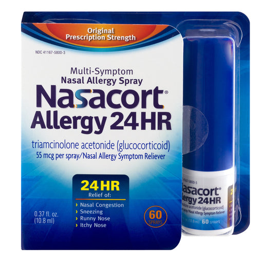 Nasacort Nasal Allergy Relief Medicine, 60 Sprays - Allergy Relief Nasal Spray - Mountainside Medical Equipment
