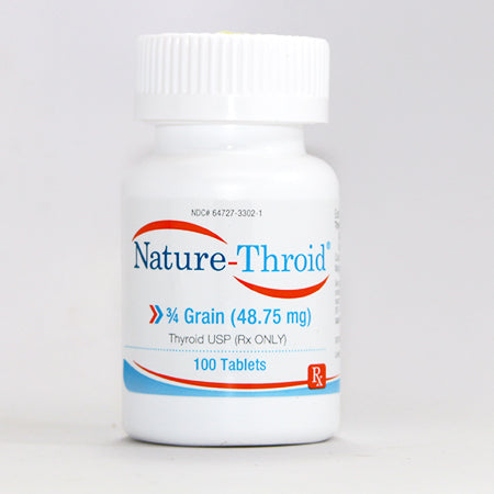Buy Nature-Thyroid Hormone Replacement Therapy Tablets 3/4 grain 48.75 mg online used to treat Thyroid Hormone Replacement Therapy - Medical Conditions