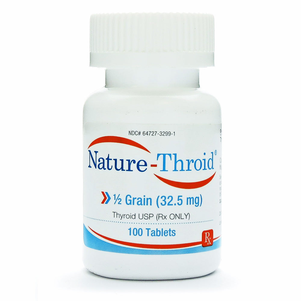 Nature Thyroid Hormone Replacement Therapy Tablets 1 2 Grain 32 5 Mg