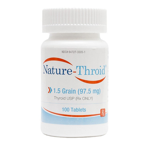 Buy Nature-Thyroid Replacement Therapy Tablets 1.5 grain 97.5 mg online used to treat Thyroid Hormone Replacement Therapy - Medical Conditions
