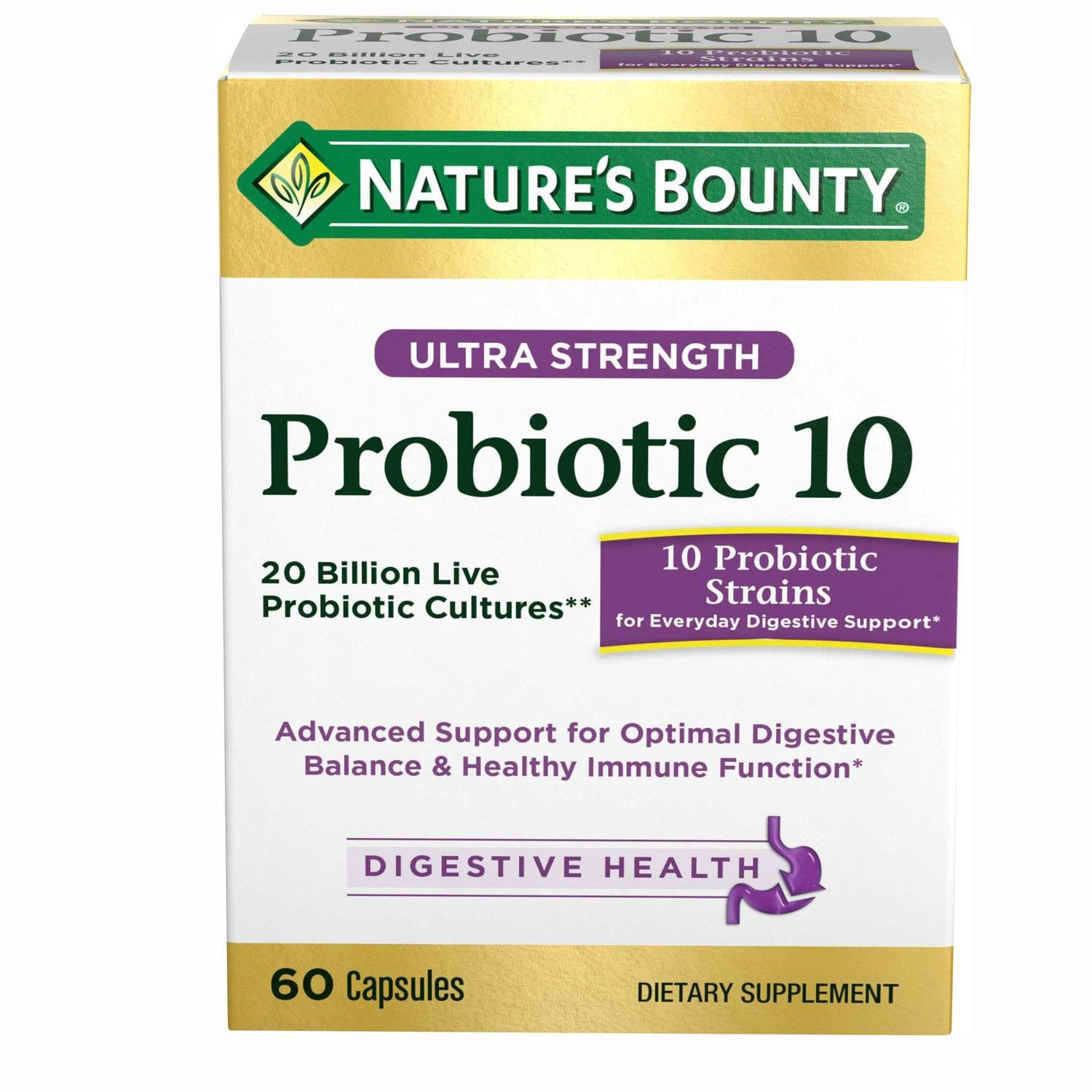 Natures Bounty Advanced Probiotic 10 for Vitamins, Minerals & Supplements by Nature