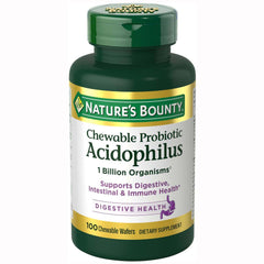 Buy Chewable Probiotic Acidophilus, Strawberry Flavor by Nature's Bounty from a SDVOSB | Digestive health